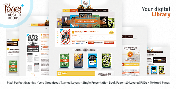 Pages Plus + - Nonprofit PSD Templates