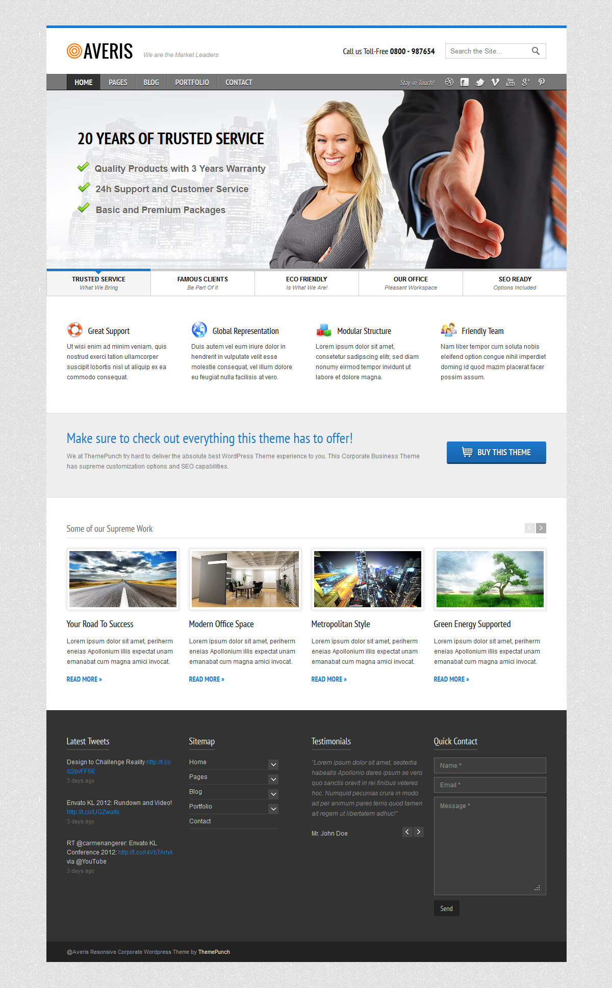 Averis Responsive Business HTML Template
