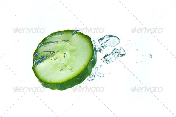 cucumber in water - Stock Photo - Images