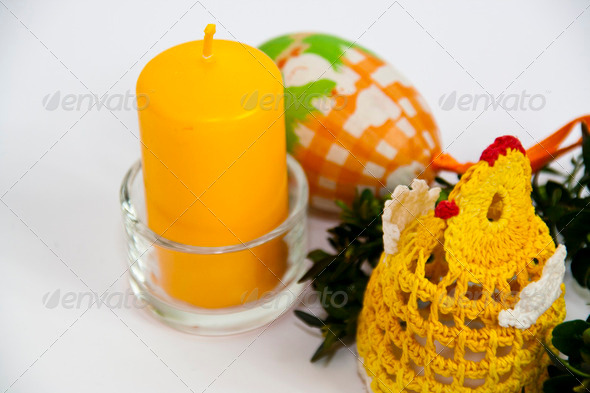 Easter Candle - Stock Photo - Images