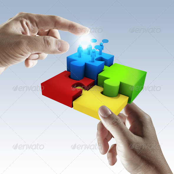 puzzle in hand - Stock Photo - Images