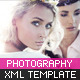 XML Photography Template - ActiveDen Item for Sale
