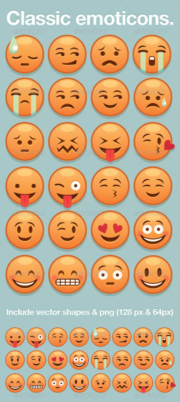 Classic Yellow Emoticon - Characters Icons