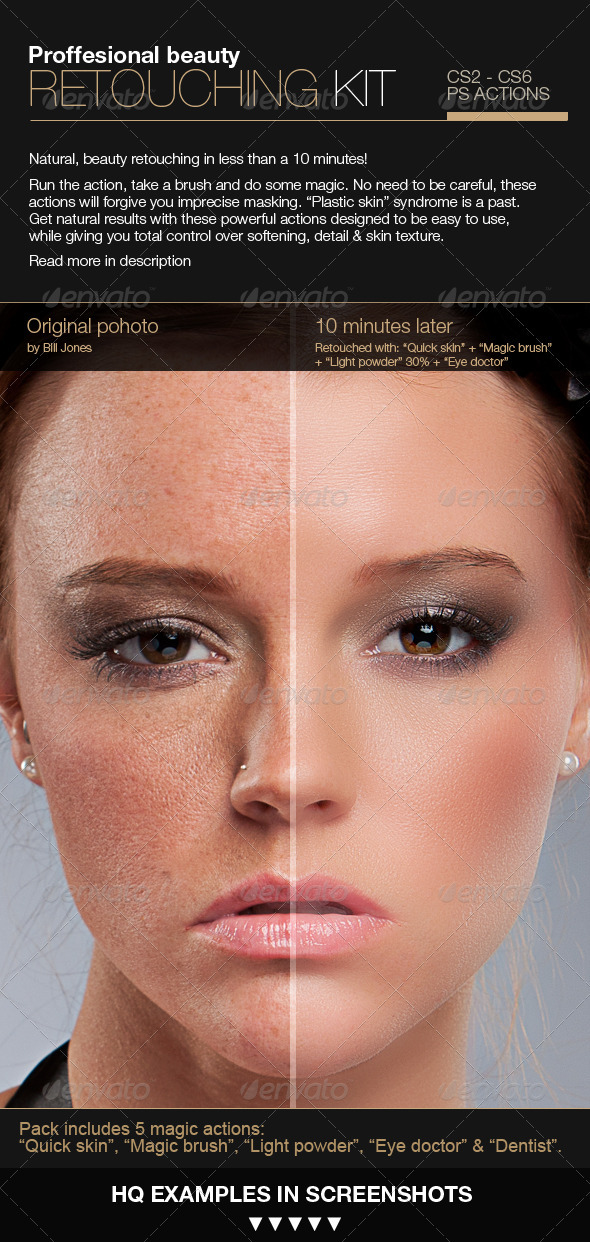 Professional Retouching Actions Kit  - Photo Effects Actions