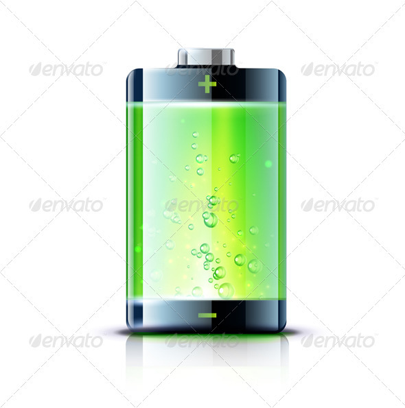 Glossy battery - Objects Vectors