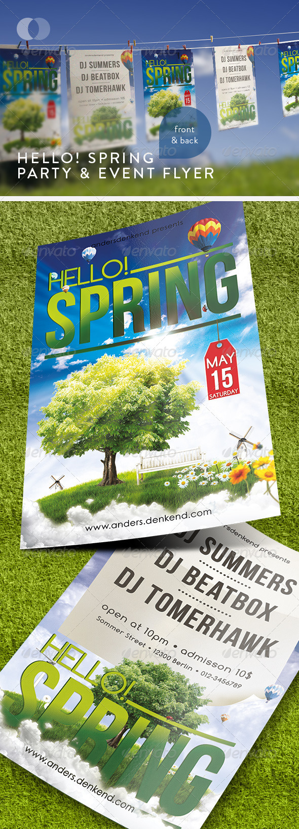 GraphicRiver Music & Event Flyer Hello Spring 232063