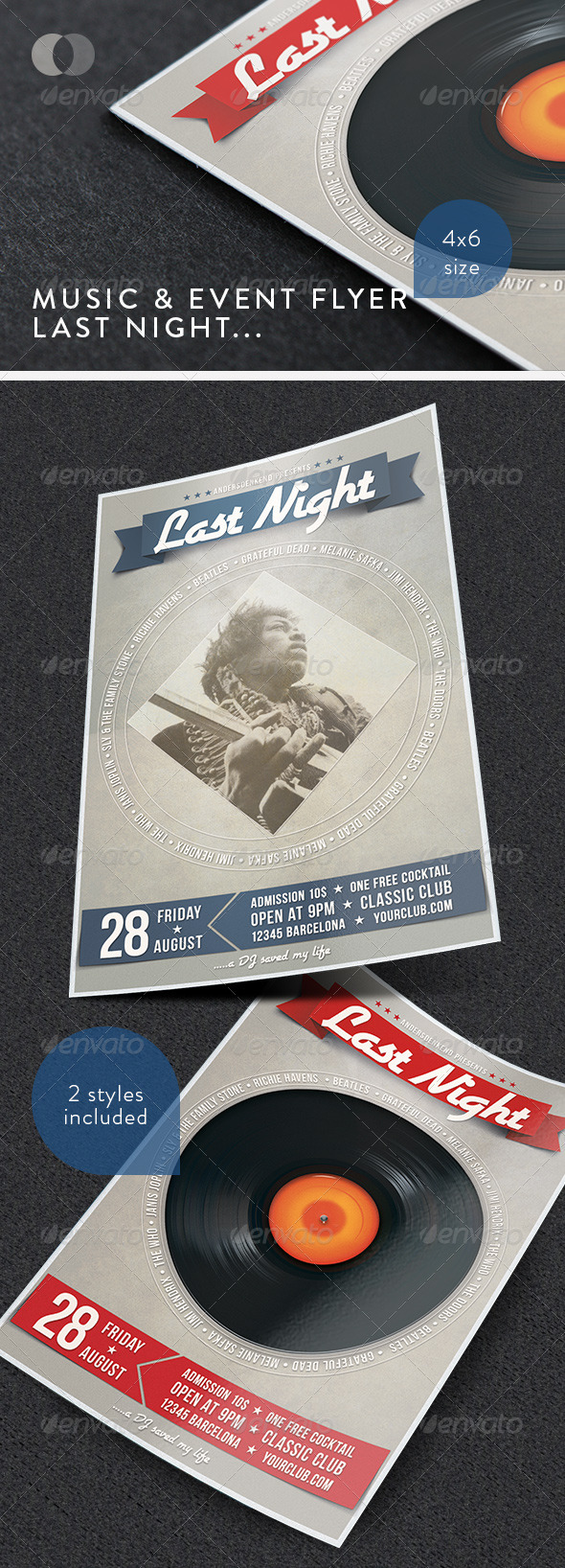 GraphicRiver Music & Event Flyer Last Night.. 1458992