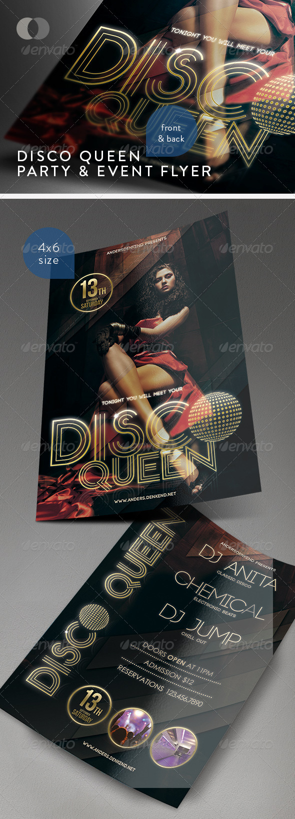 Music & Event Flyer - Disco Queen - Clubs & Parties Events