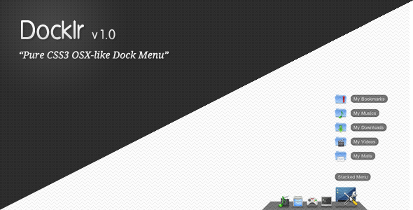 Docklr CSS - Pure CSS3 OSX-like Dock Menu - CodeCanyon Item for Sale