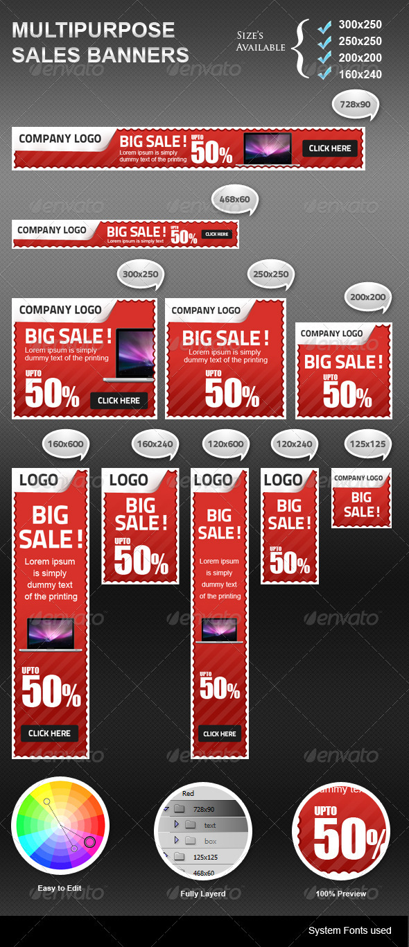GraphicRiver Sales Banners 3255748