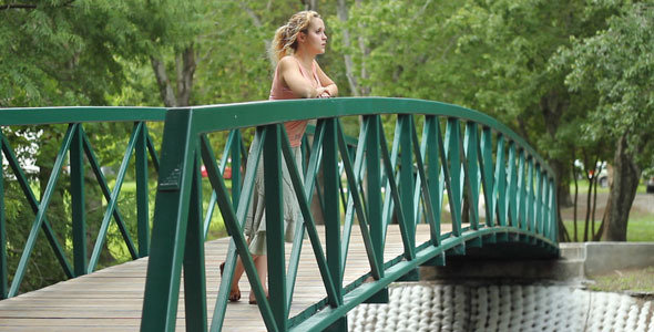 Woman Standing On Bridge VideoHive Stock Footage  People 337156