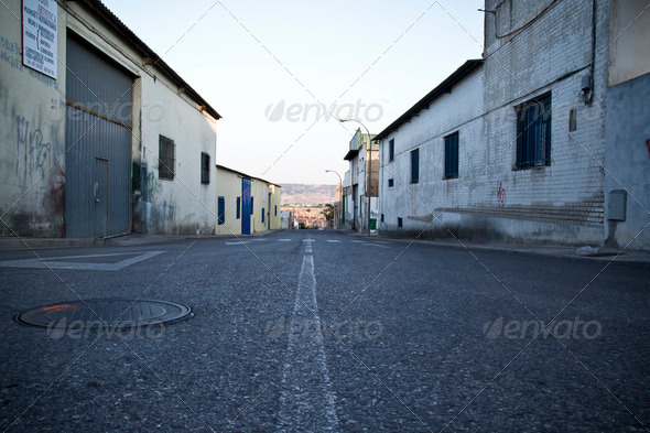 Old industrial area. closed - Stock Photo - Images