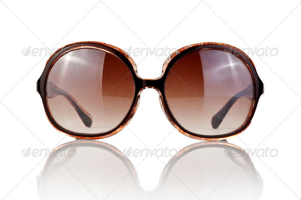 Female sunglasses isolated on white - Stock Photo - Images