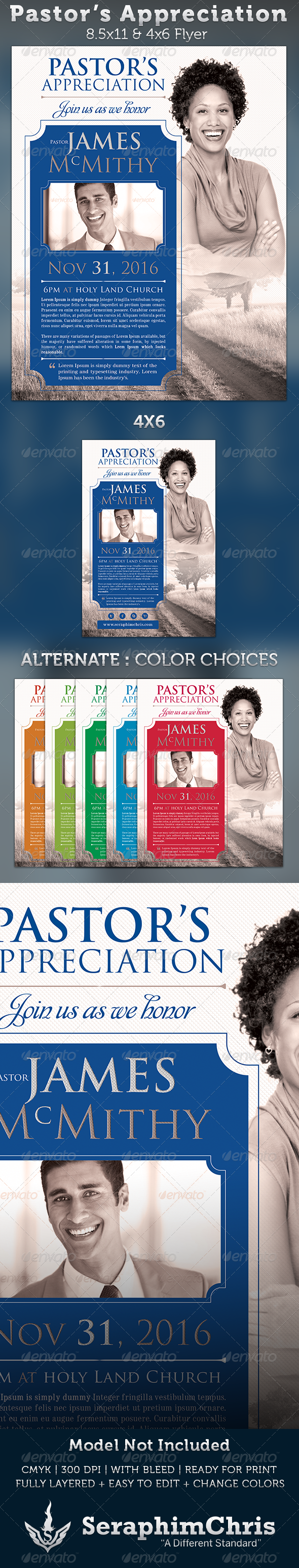 GraphicRiver Pastor s Appreciation Church Flyer Template 3257910