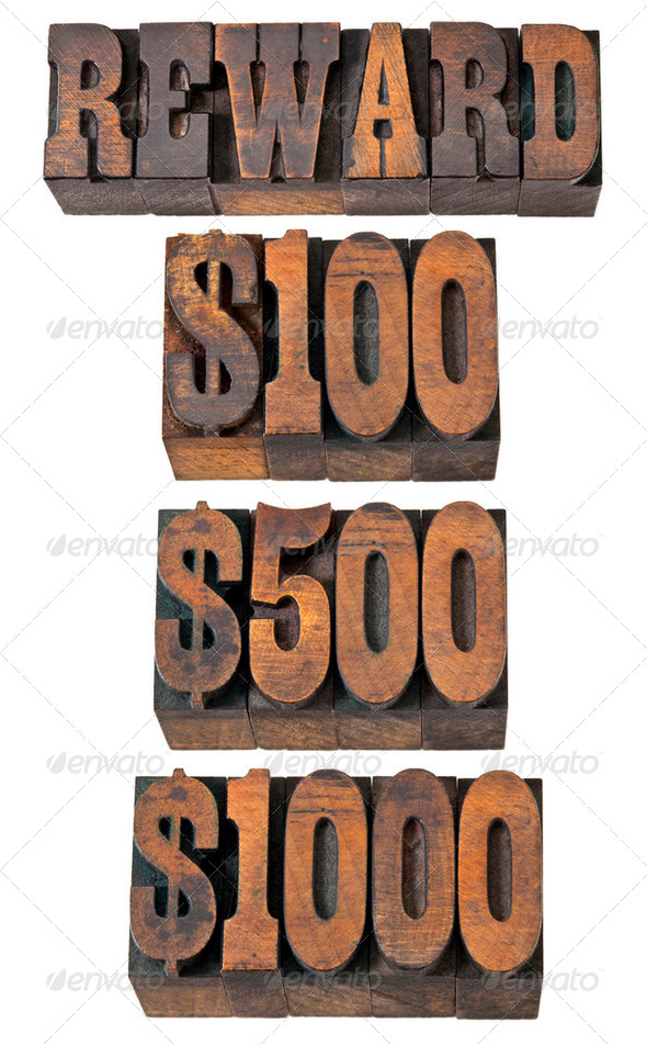 reward in western style type - Stock Photo - Images