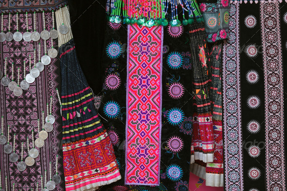 Hmong traditional clothes - Stock Photo - Images