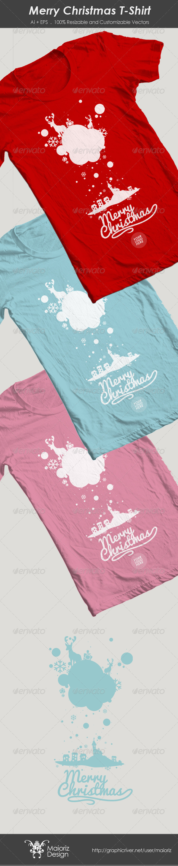 Snow Village Christmas T-Shirt  - Events T-Shirts