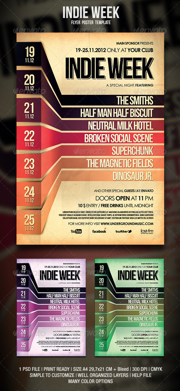 Indie Flyer / Poster - Events Flyers