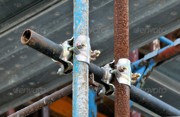 Scaffolding detail - Stock Photo - Images