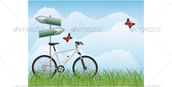 GraphicRiver Summer landscape with a bike 114762