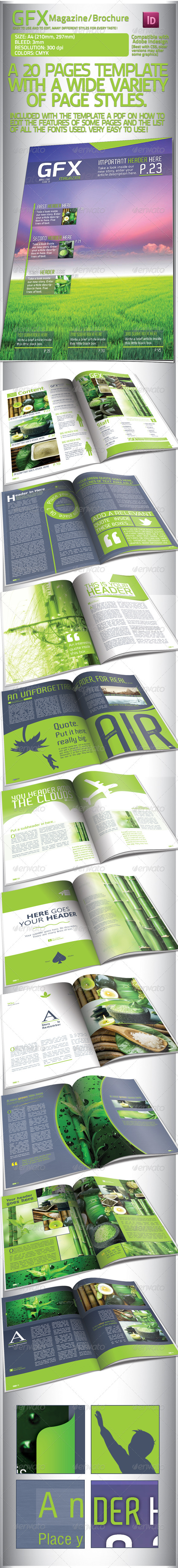 GraphicRiver Clean Green Magazine Brochure 20 Pages 1955672