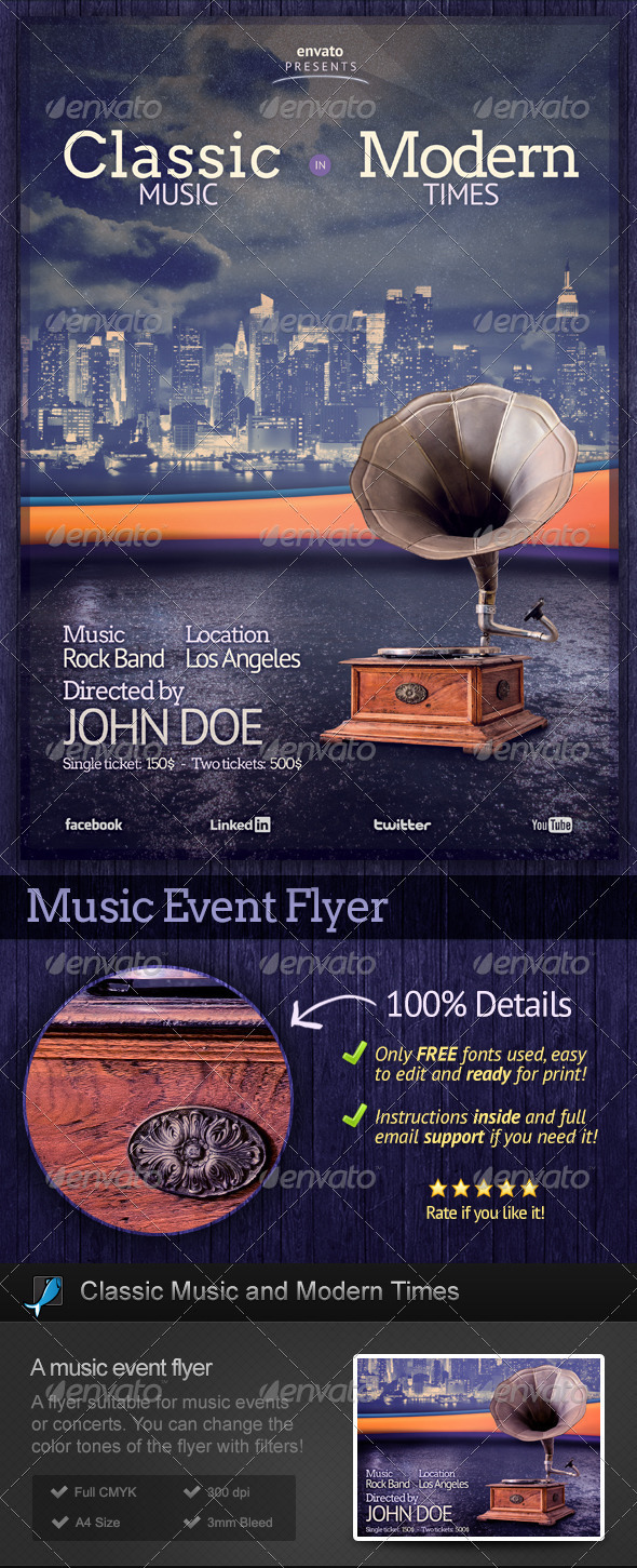 Classic Music and Modern Times Flyer - Concerts Events