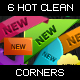 6 New Corners (Labels) - GraphicRiver Item for Sale
