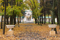 The old mansion in the park in autumn - PhotoDune Item for Sale