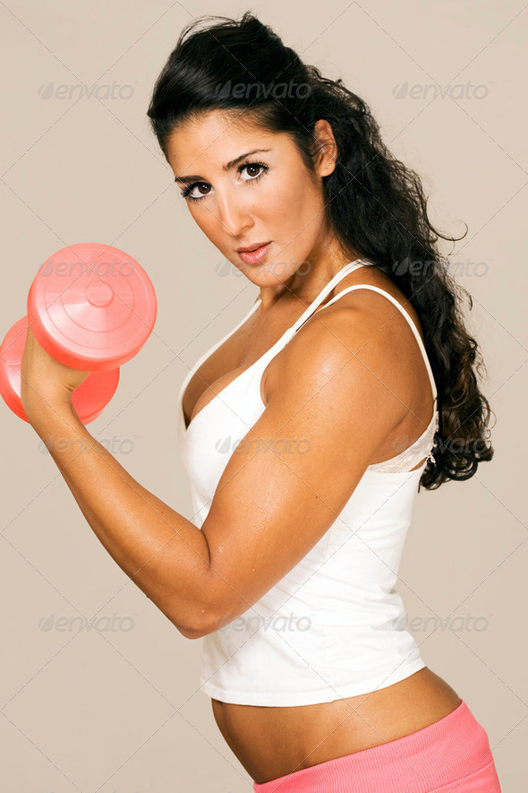 Gym power female - Stock Photo - Images
