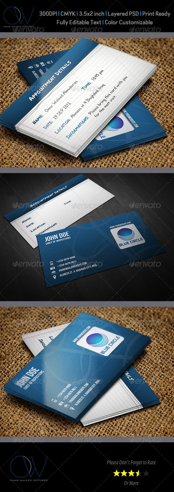 GraphicRiver Appointment Business Card Vol.2 3260656
