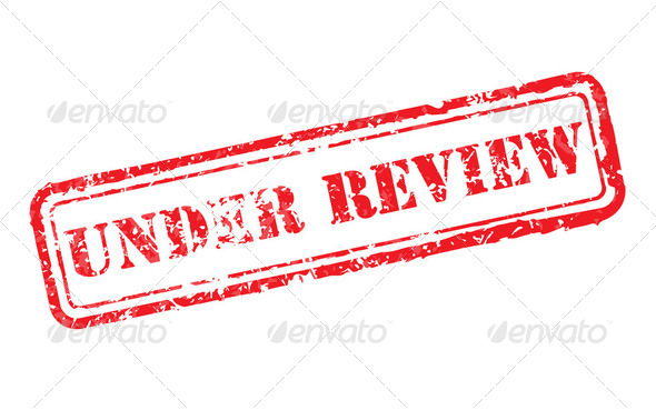 Under review rubber stamp - Stock Photo - Images