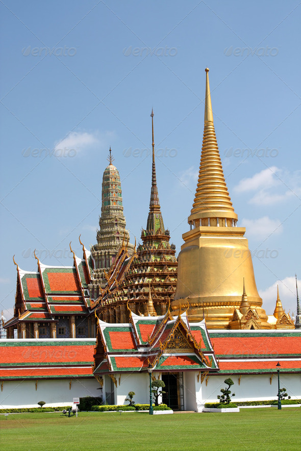 The Royal Palace in Bangkok,Thailand - Stock Photo - Images
