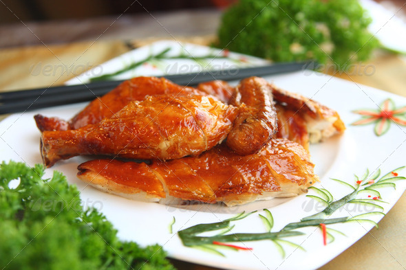 Asian Food Crispy Chicken - Stock Photo - Images
