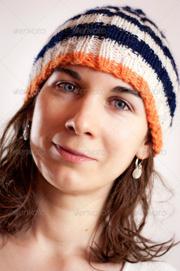 Woman and bonnet - Stock Photo - Images