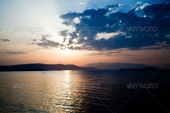 The Sun And The Sea View - Stock Photo - Images
