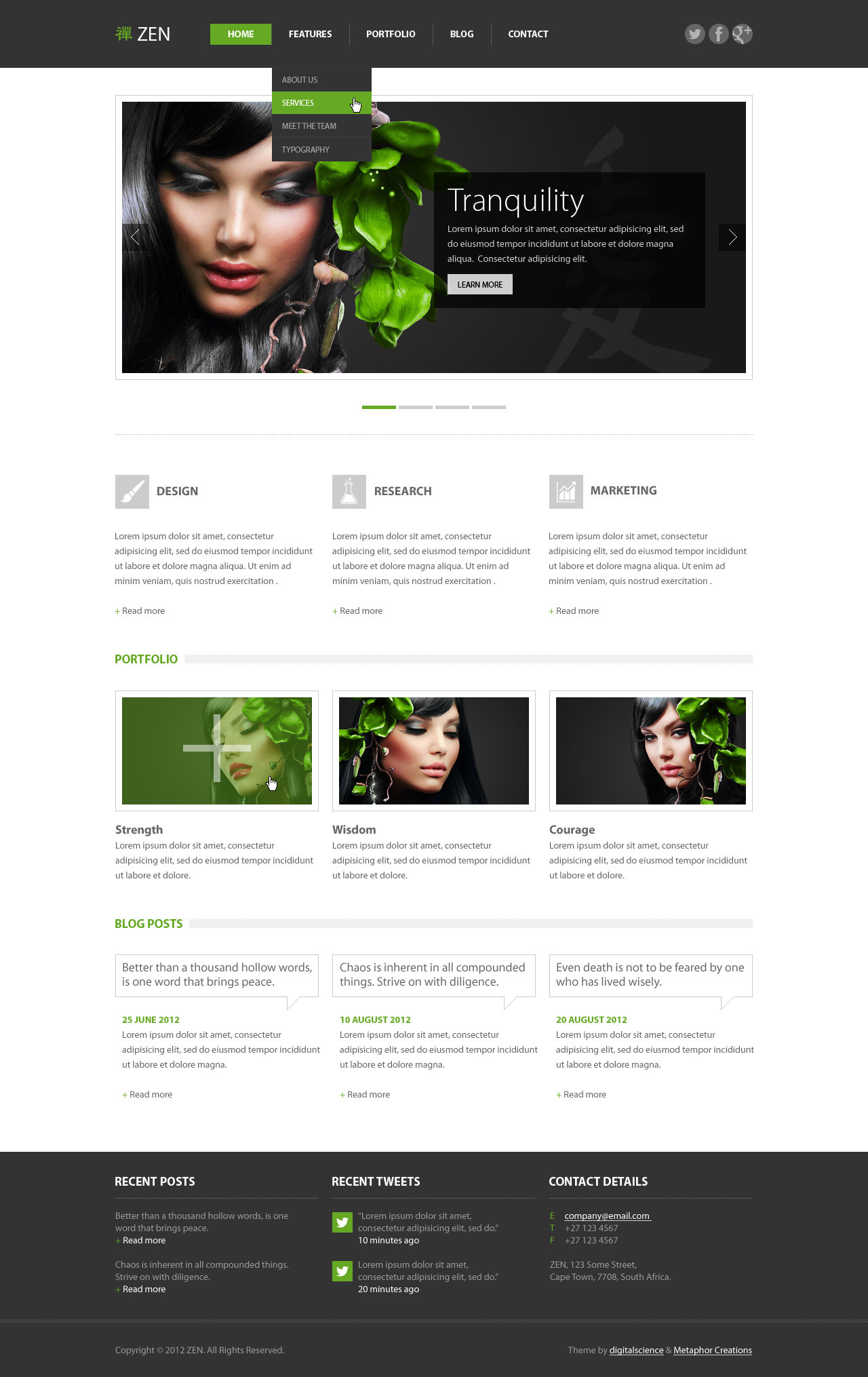 ZEN PSD Theme