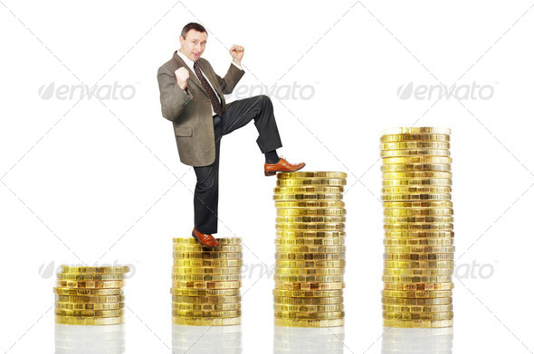 Growth of profit - Stock Photo - Images
