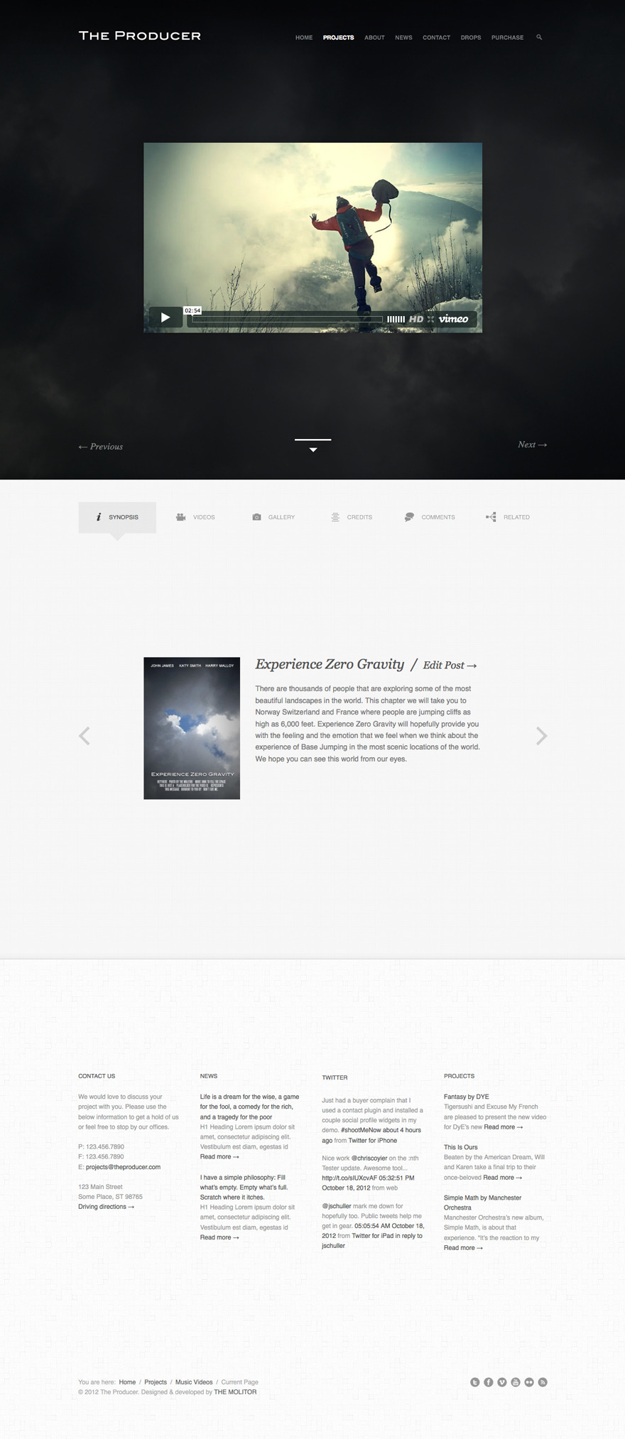The Producer: Responsive Film Studio Theme