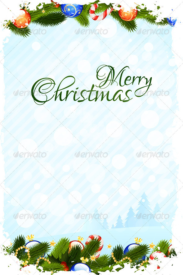 Grungy Christmas Card - Christmas Seasons/Holidays