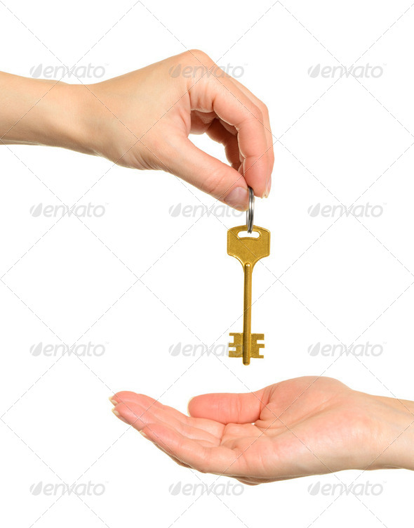 Hands and key - Stock Photo - Images