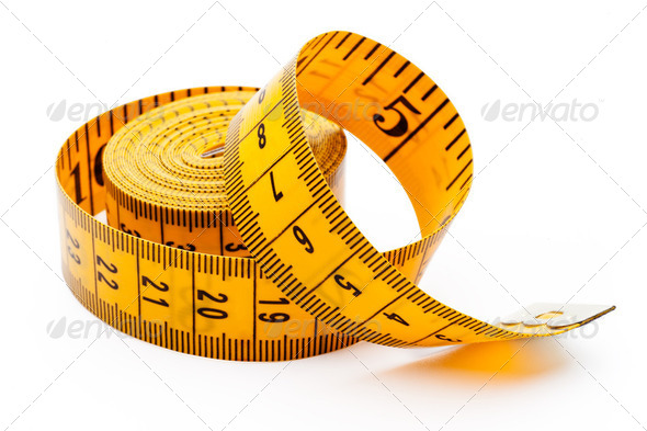 Yellow tailor meter - Stock Photo - Images