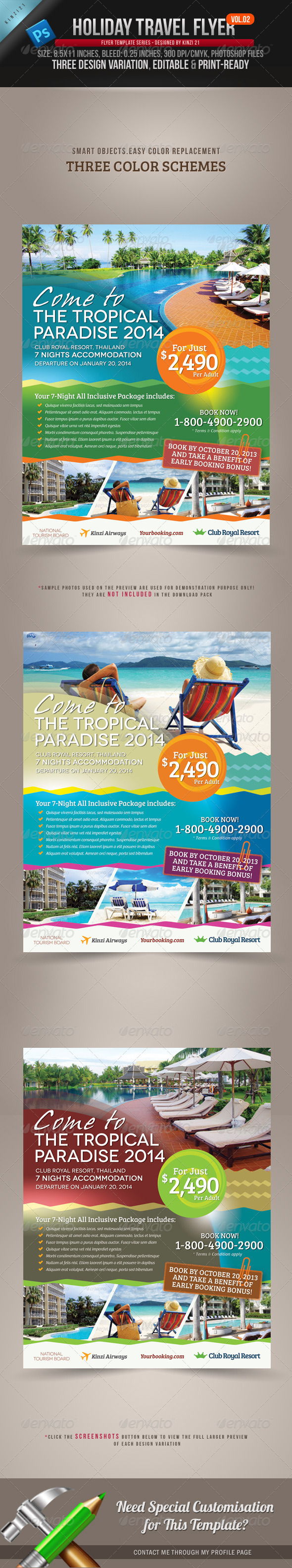 GraphicRiver Holiday Travel Flyer Vol.02 3263121