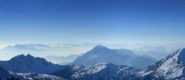 Mountains top panorama - Stock Photo - Images