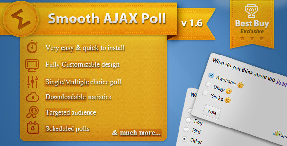 CodeCanyon Smooth Ajax Poll 214132