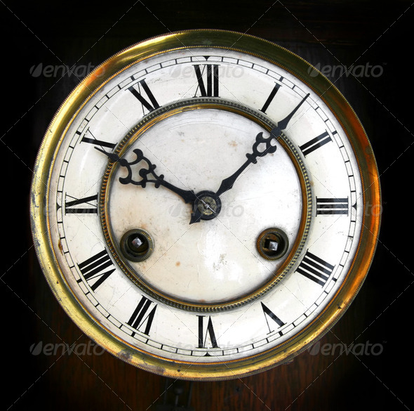 Antique clock face - Stock Photo - Images