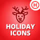Christmas Thanksgiving Halloween Icons Bundle - GraphicRiver Item for Sale