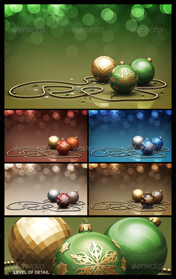 GraphicRiver Christmas Background 01 In 5 Colors 3263978