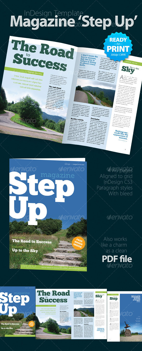 GraphicRiver Magazine Step Up 4 pages 112634