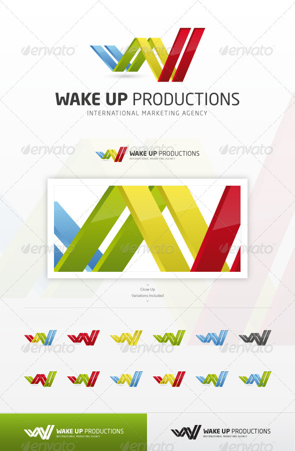 Wake Up Productions - Abstract Logo Templates
