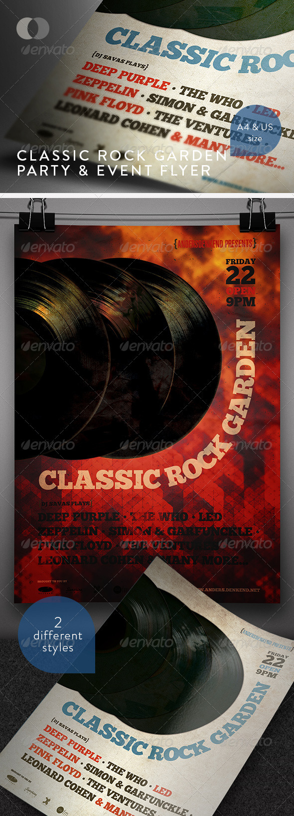 Music &amp; Event Flyer - Classic Rock Garden - Events Flyers